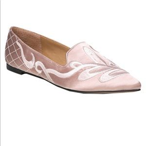 NWOT Franco Sarto Sloane Blush Embroidered Flats